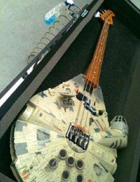 Millenium Falcon bass guitar