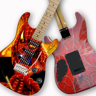 Spiderman guitar