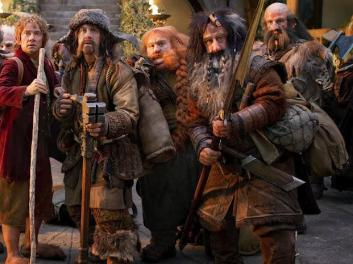 Bilbo and a few of many dwarves