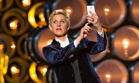 Ellen DeGeneres at the Oscars