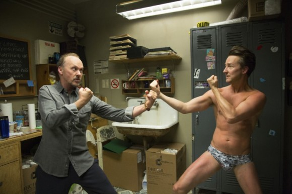 Michael Keaton & Edward Norton in Birdman