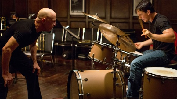 J.K Simmons and Miles Teller in Whiplash