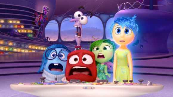 Sadness, Fear, Anger, Disgust and Joy from Pixar's Inside Out