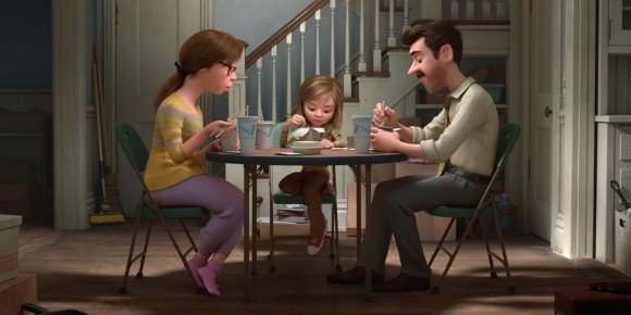 Riley and her parents in Inside Out
